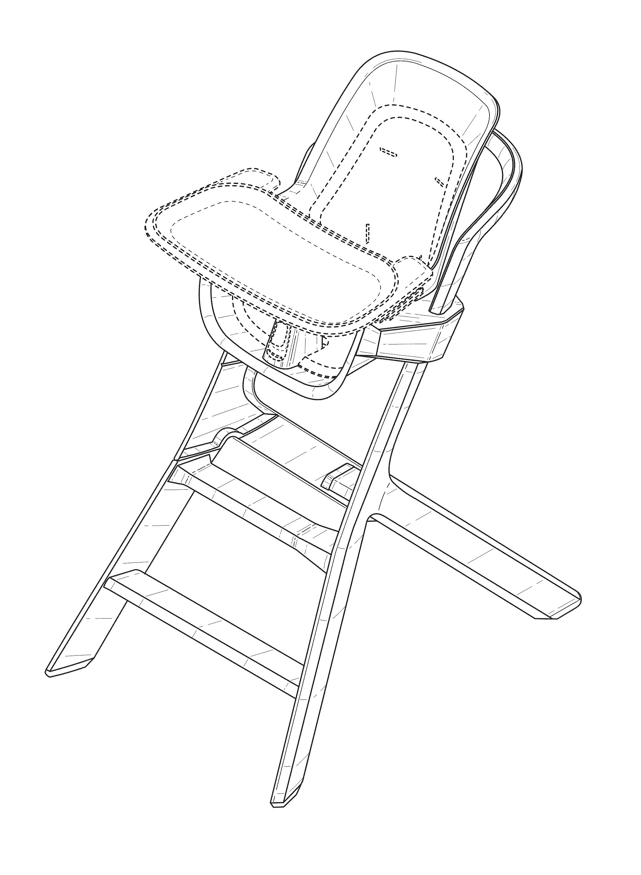 """US-D764819-S1 """"High Chair"""" Thorley Ind LLC"""